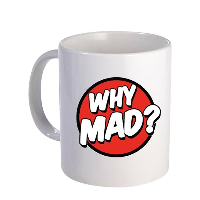 Why Mad Ceramic  Mug - White