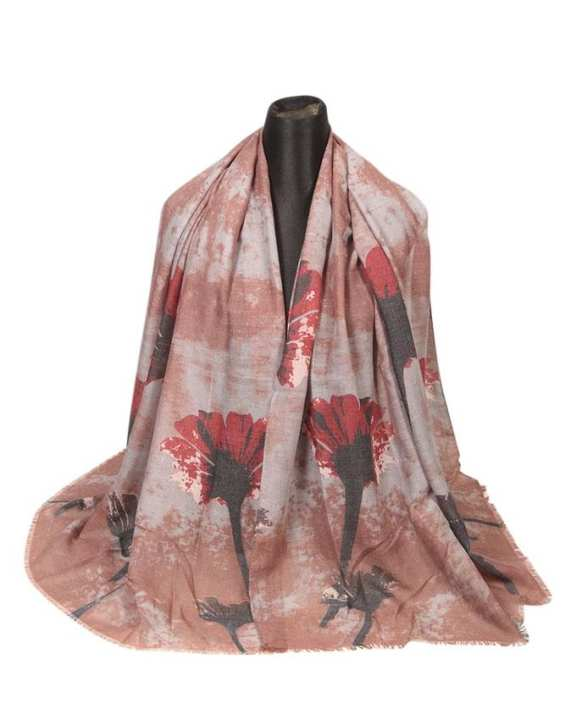 Ash & Maroon Cotton Scarf For Women