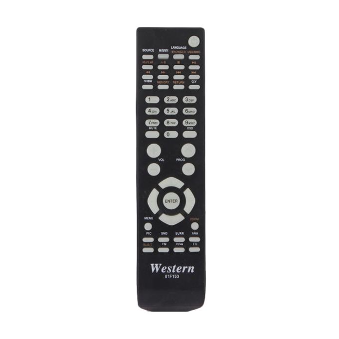 Western LCD/LED TV Remote - RC33- Black