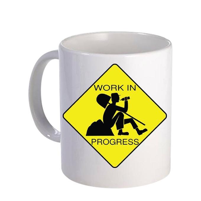 Work In Process Ceramic  Mug - White