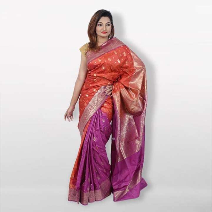 Multicolor Reshmi Silk Mina Kuchi Katan  For Women