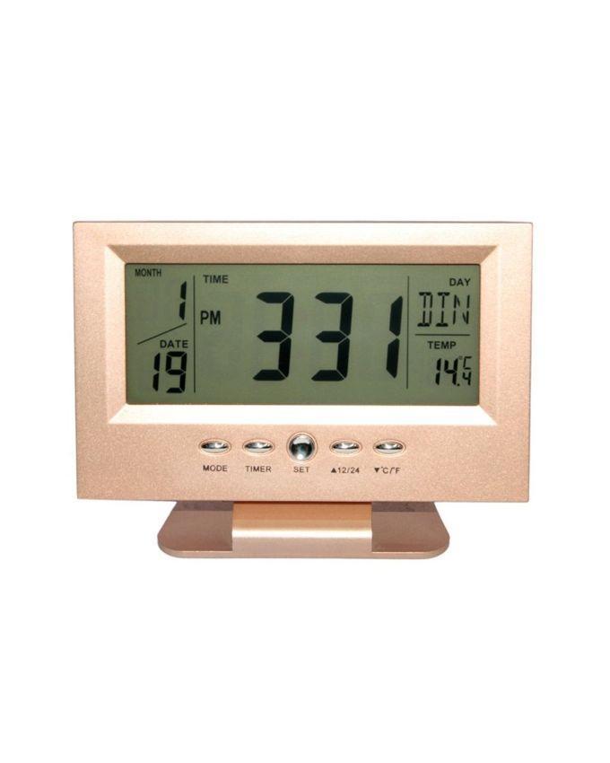 KK-8082 LCD Clock - Rose Gold