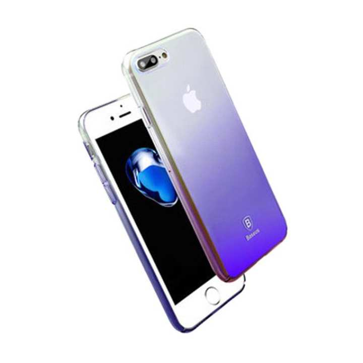 Luxury Aurora Transparent Hard PC Case for iPhone 7 - Gradient