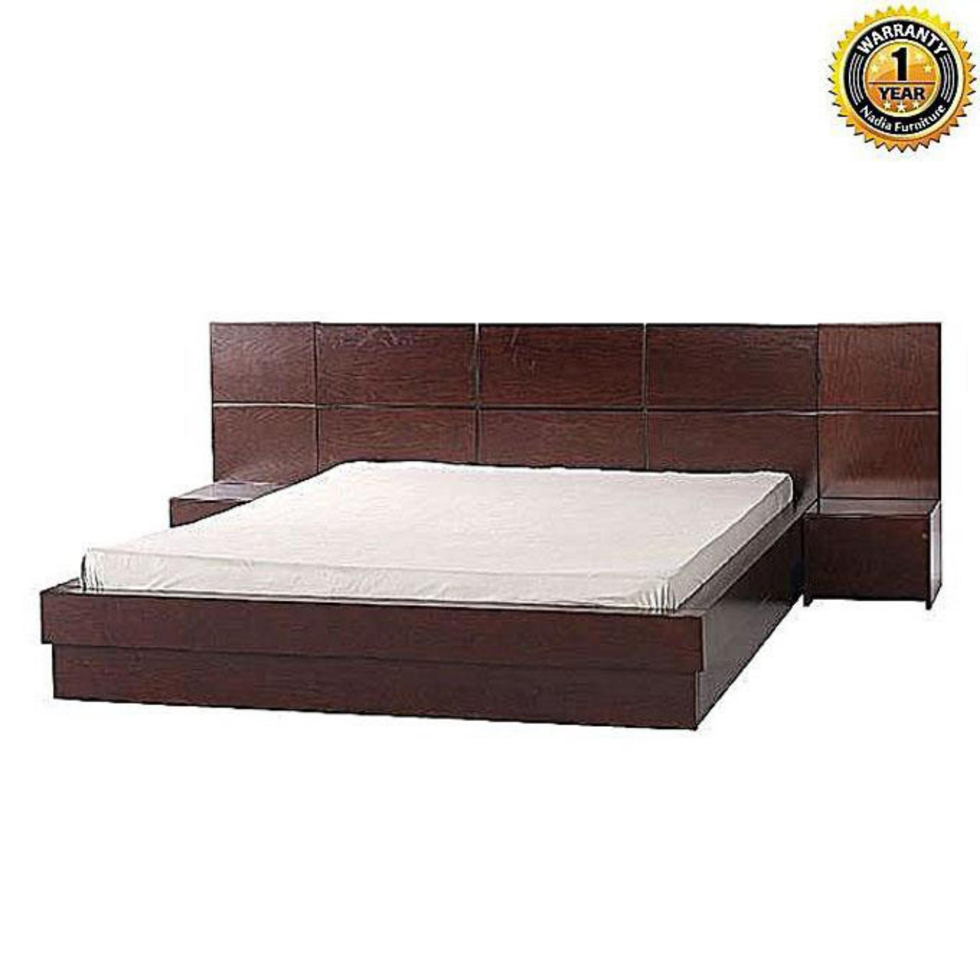 NFL-B-0228-2 Mapple Bed - Glossy A/C Lacquer