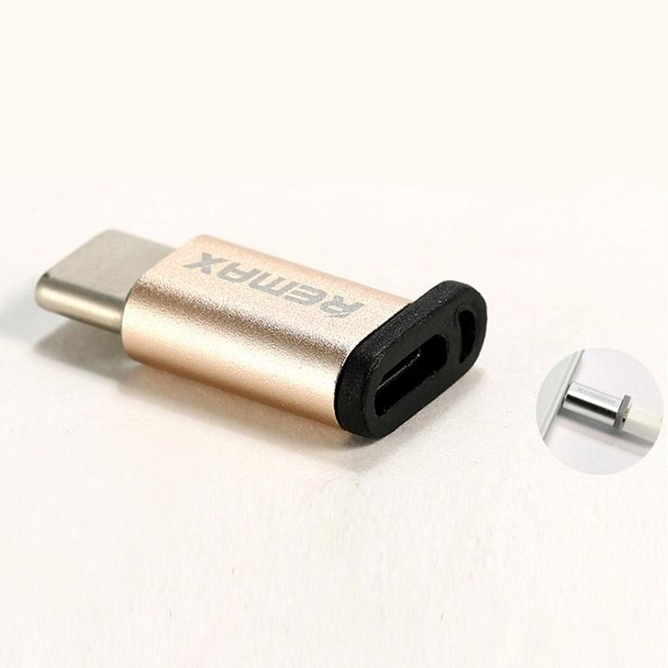 Type-C Male to Micro USB Female Adapter - Golden