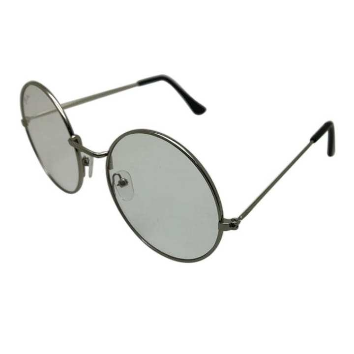Shed Black Round Metal Sunglasses for Men