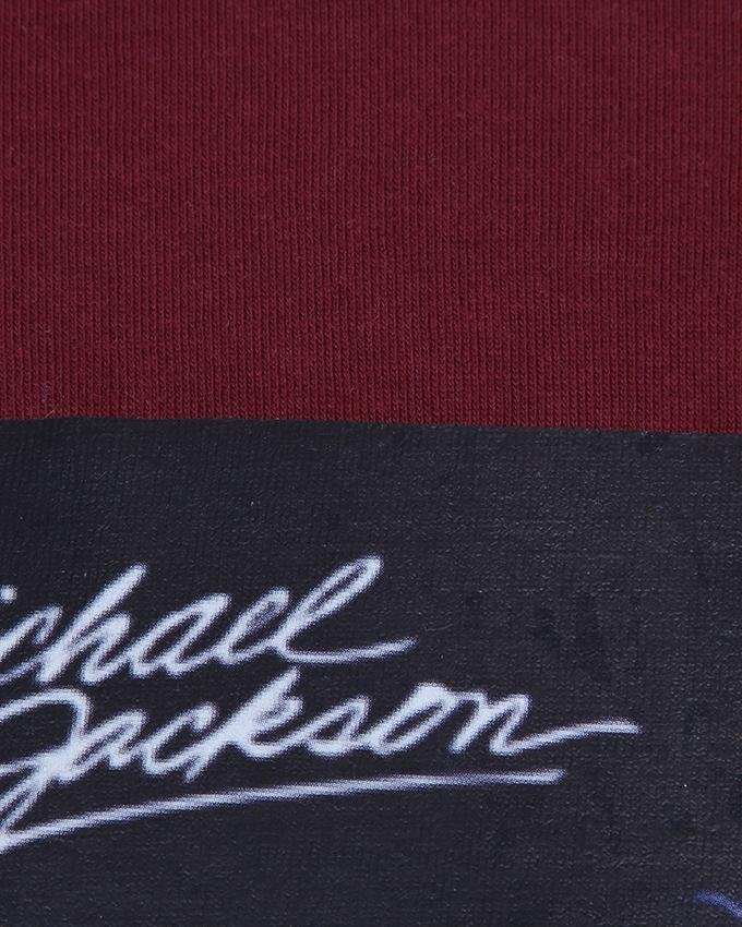 Cotton Casual T-Shirt For Men - Maroon