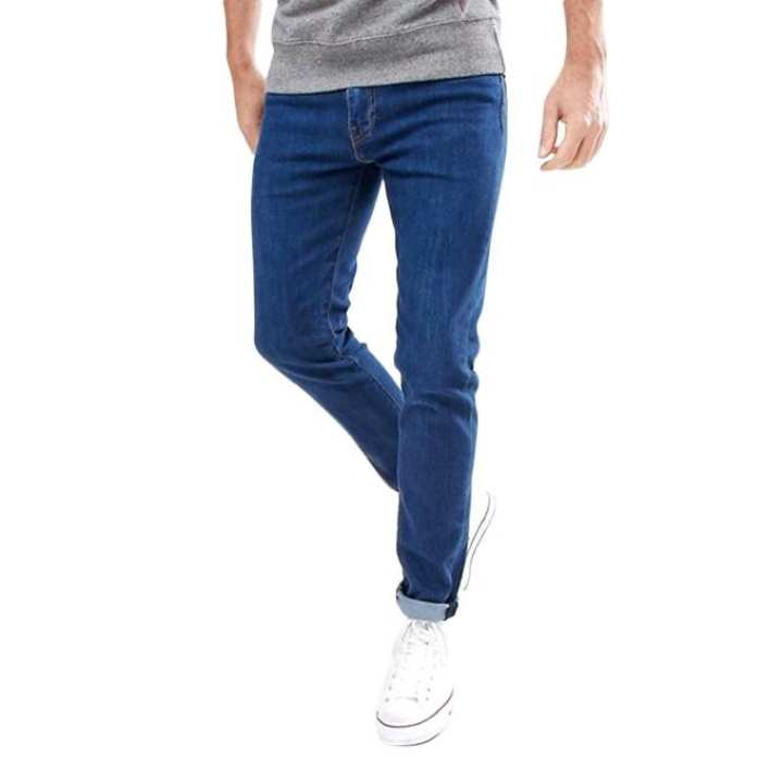 Royal Blue Denim Jeans Pants for Men