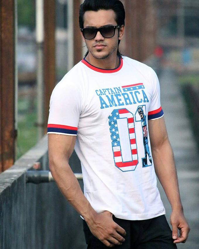 Cotton Casual T-Shirt for Men - White