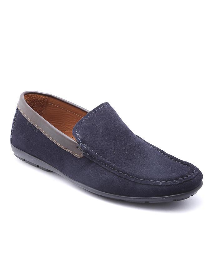 Maverick Leather Moccassin Loafer - Blue
