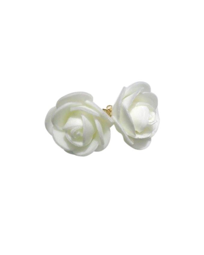 White Felt Earrings For Women