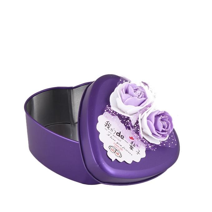 Tin Jewellery Box - Violet