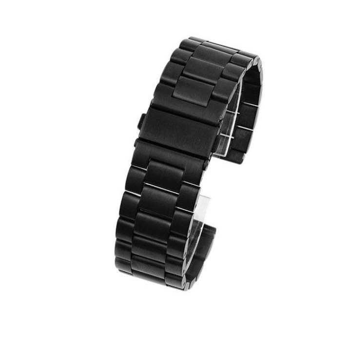 20mm Stainless Steel Watch Band- Black