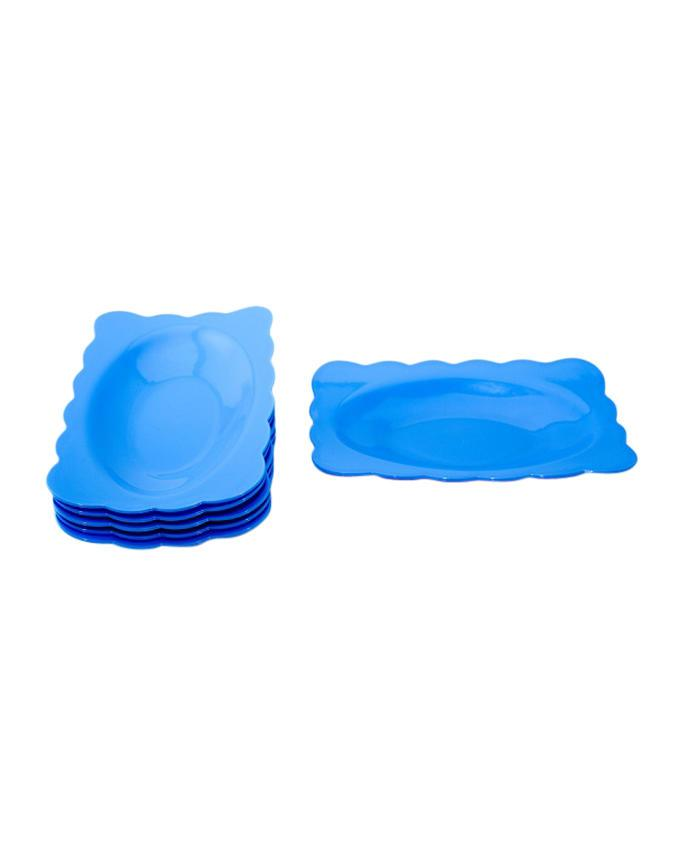 PPS-HN588-3 Snack Plate  - Blue
