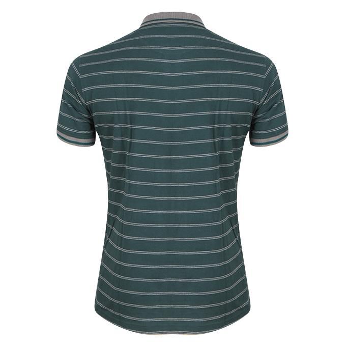 Deep Green Cotton Polo For Men