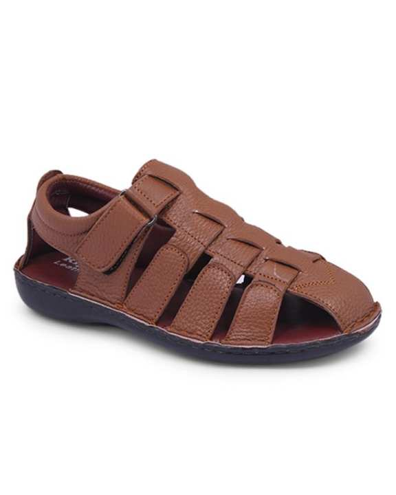 Leather Sandal For Men - Brown