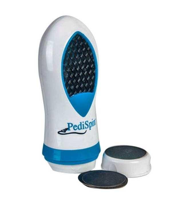 Pedi Spin Callus and Dry Skin Remover - White