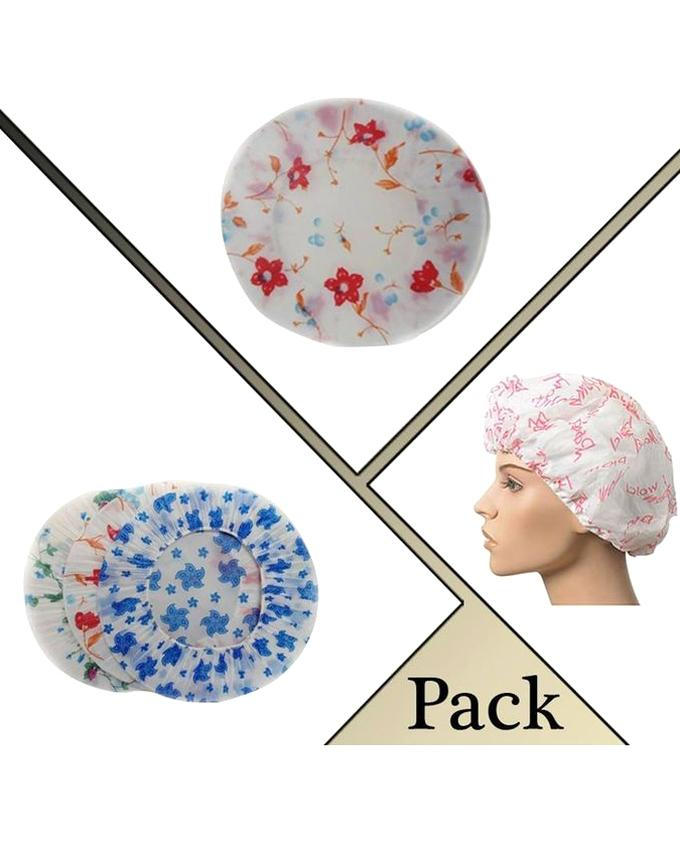 Pack Of 3 Terry Lined Shower Cap