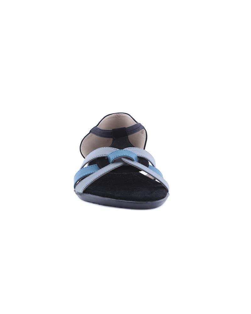 Sandra Rosa Rubber Sheet Casual Sandal - Black