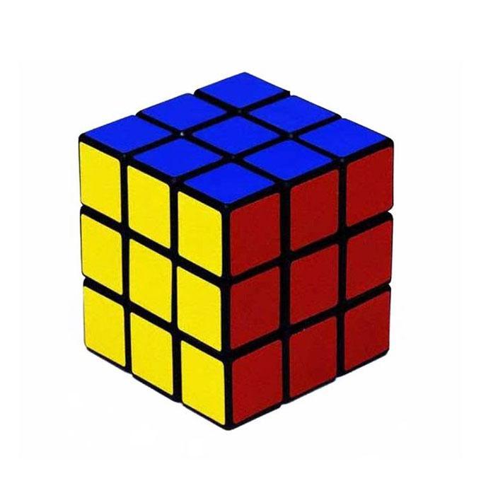 Solid Rubik's Cube 3D Puzzle - Multicolor
