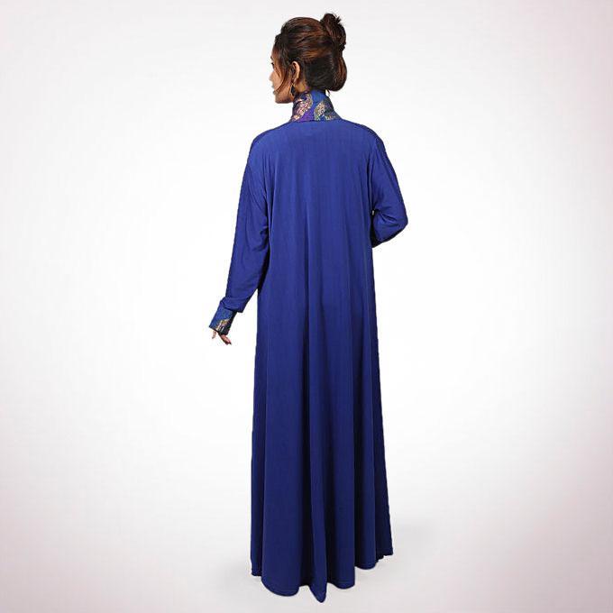 Royel Blue Korean Spandex Outerwear For Women