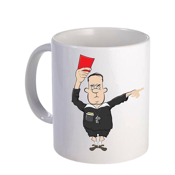 Red Card Ceramic  Mug - White