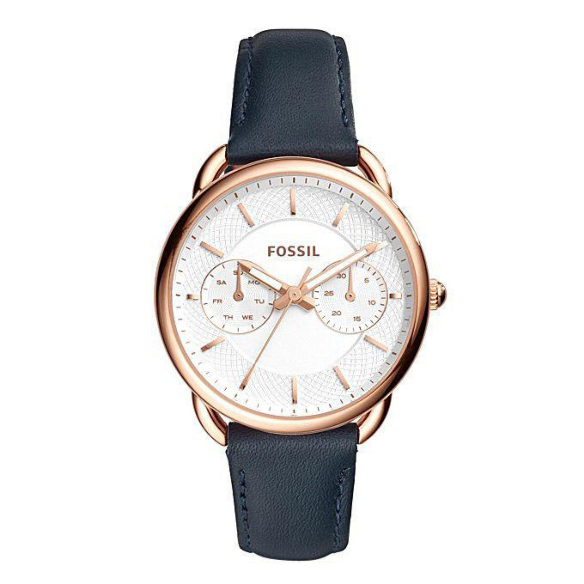 Fossil Online Store In Bangladesh Ch2869 Es4260 Leather Chronograph Watch For Women Navy Blue