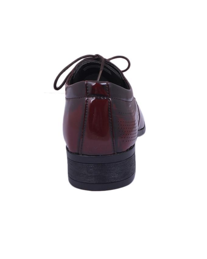 PU Formal Shoe For Men - Dark Brown