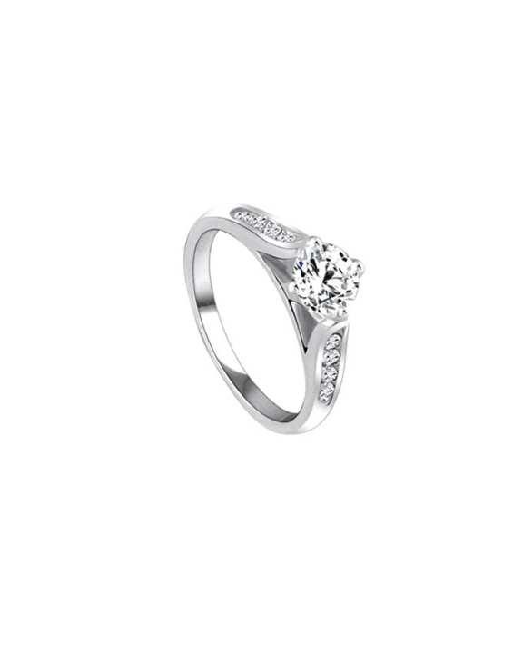 Silver Alloy Finger Ring For Women