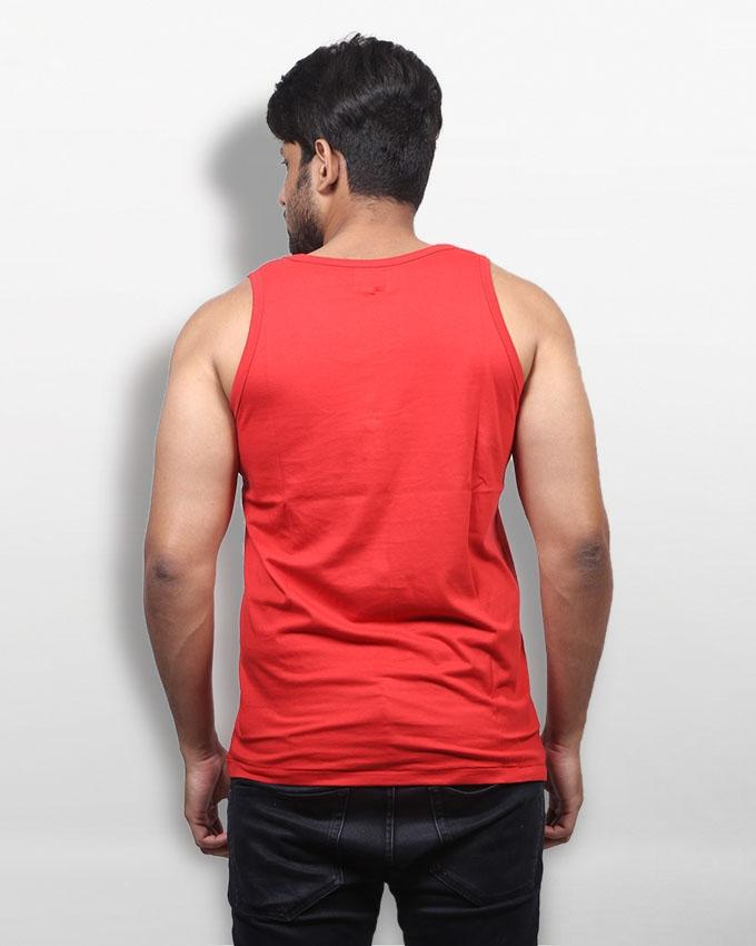Red Cotton Under Shirt For Men