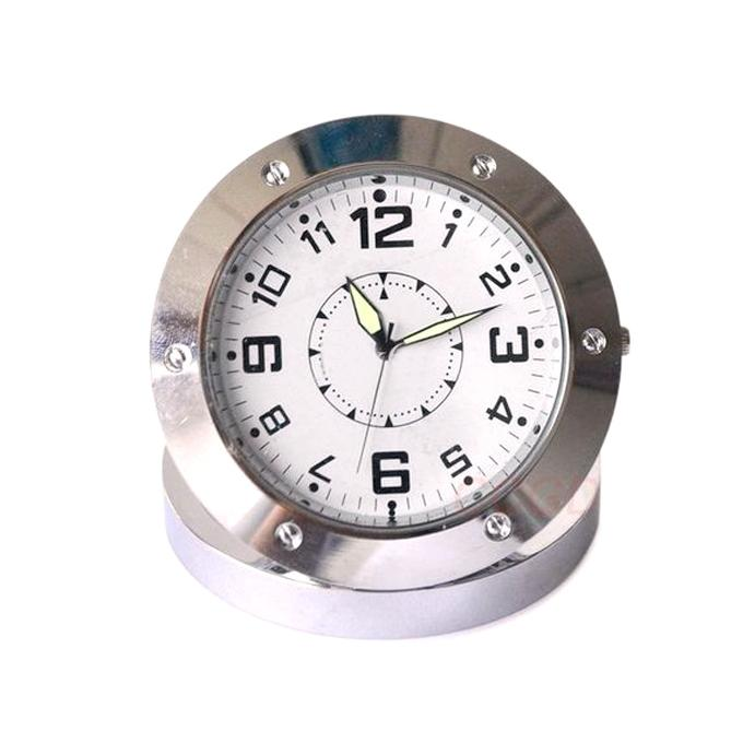 Spy Video Camera HD Clock - White