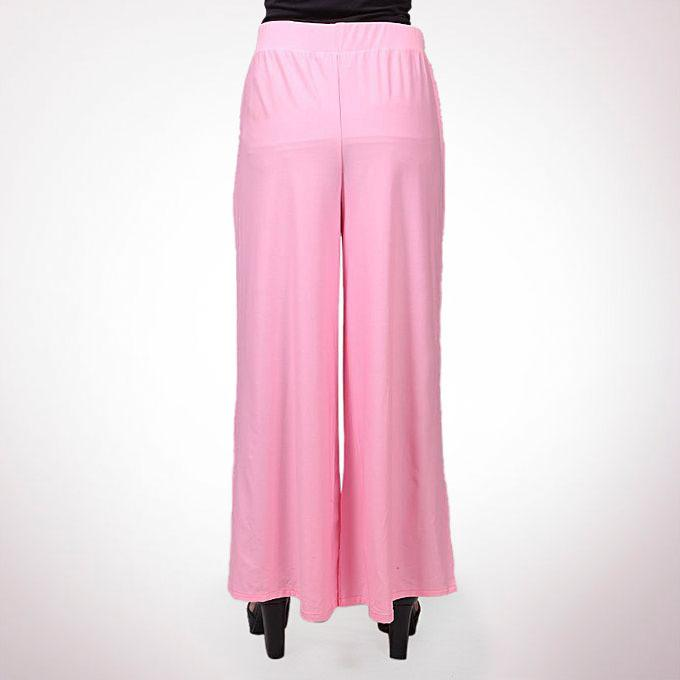 Pink Korean Spandex Palazzo For Women
