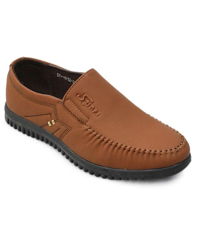 Men's PU Loafer Shoe - Brown