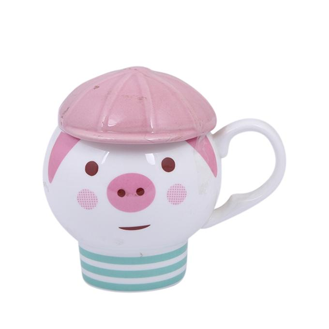 Ceramic Mug - White and Pink