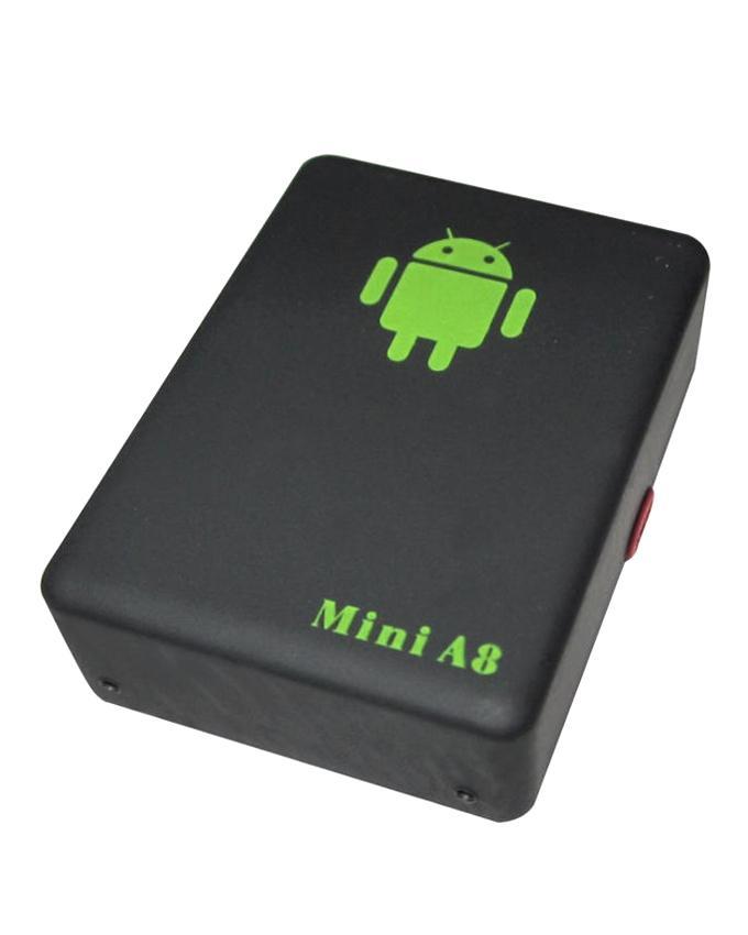 Mini A8 GPS/GSM/GPRS Tracking Device - Black