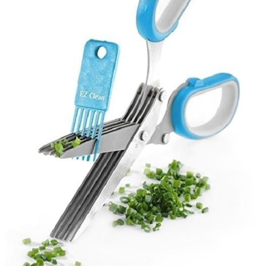 5 Blade Kitchen Scissors With Cleaner