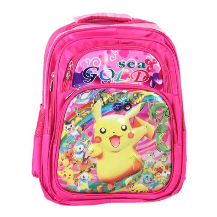 Polyester Backpack For Girls - Pink
