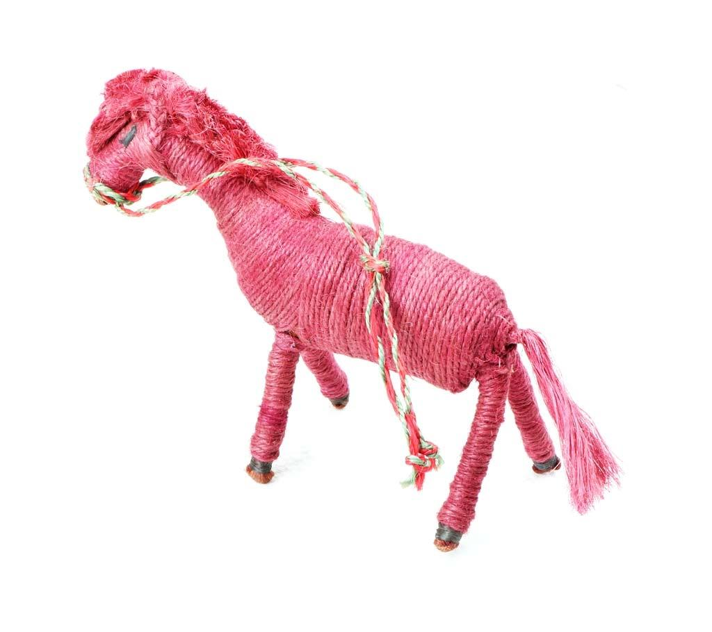 Child Friendly Handmade Horse Shaped Toy For Kids - Magenta