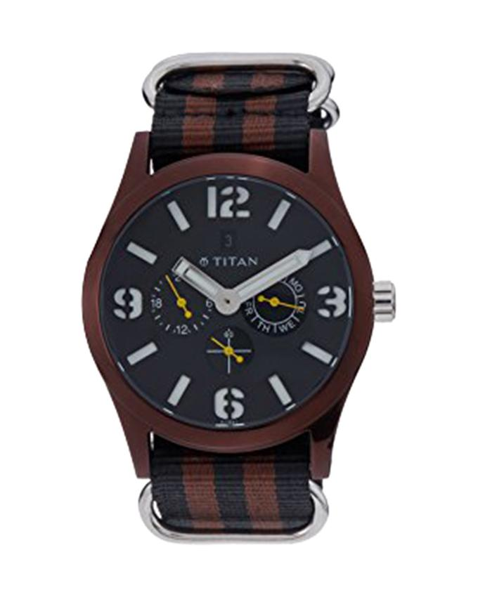 9473AP01J Chronograph Wrist Watch For Men - Black and Brown