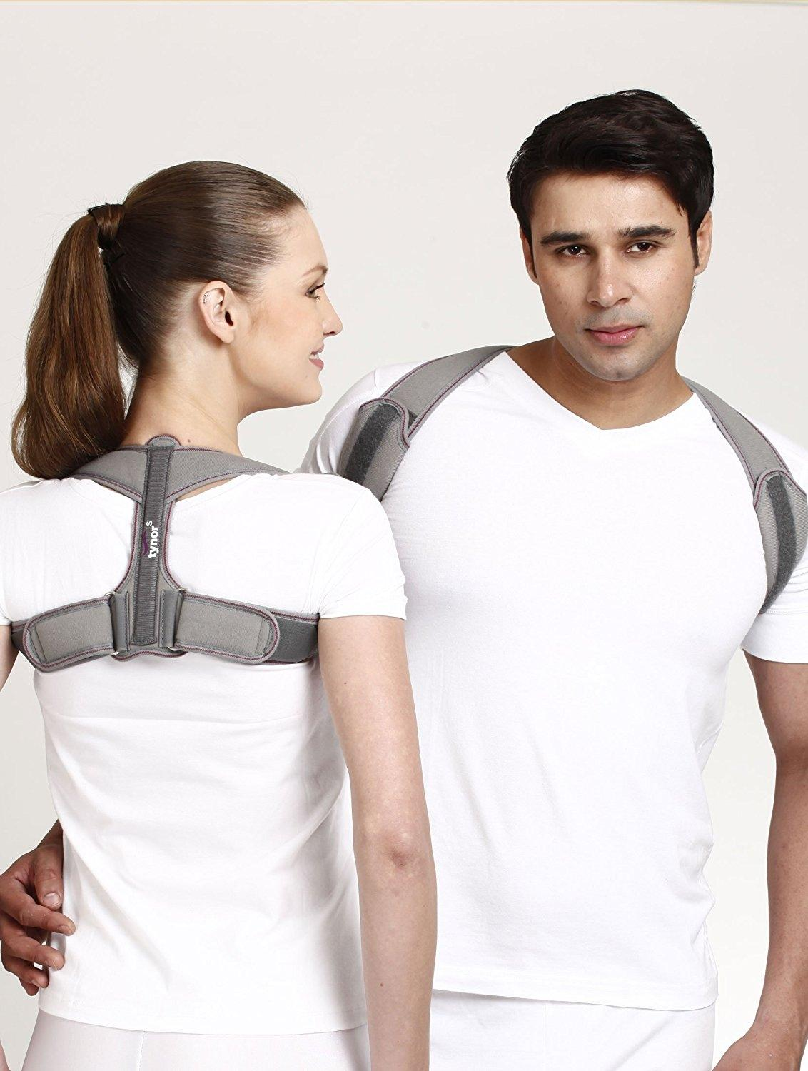 Clavicle Brace with Velcro - Ash