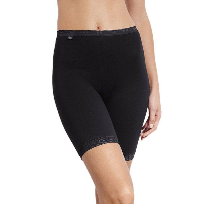 Black Polymade Boxer Shorts For Women