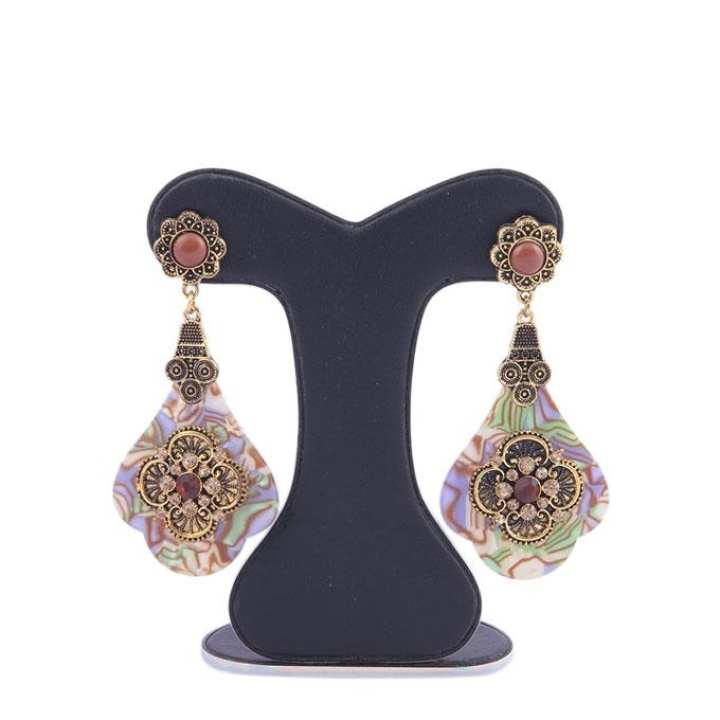 Multi Color Alloy Crystal Stone Ear Ring For Women