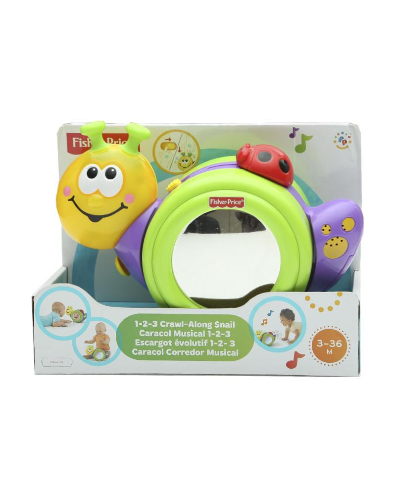 Fisher Price Crawl Along Snail - Blue and Yellow
