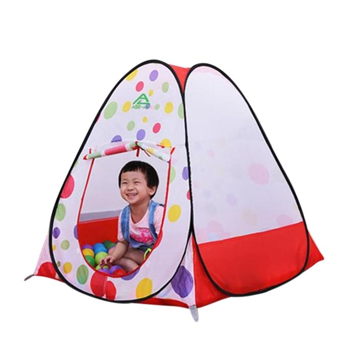 Tent Play House And Pit Ball Set For Kids - Red And White