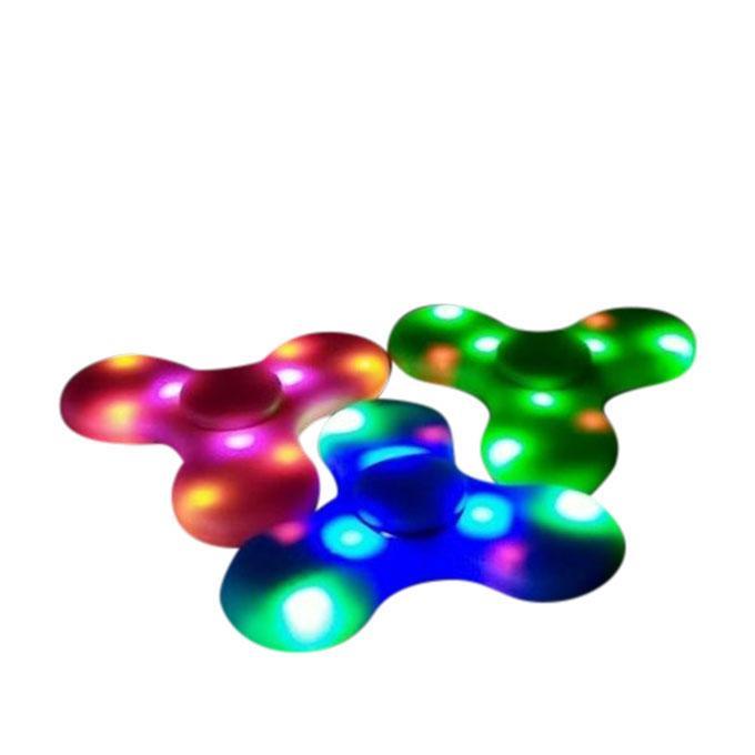 Mini LED Fidget Spinner Bluetooth Speaker - Green