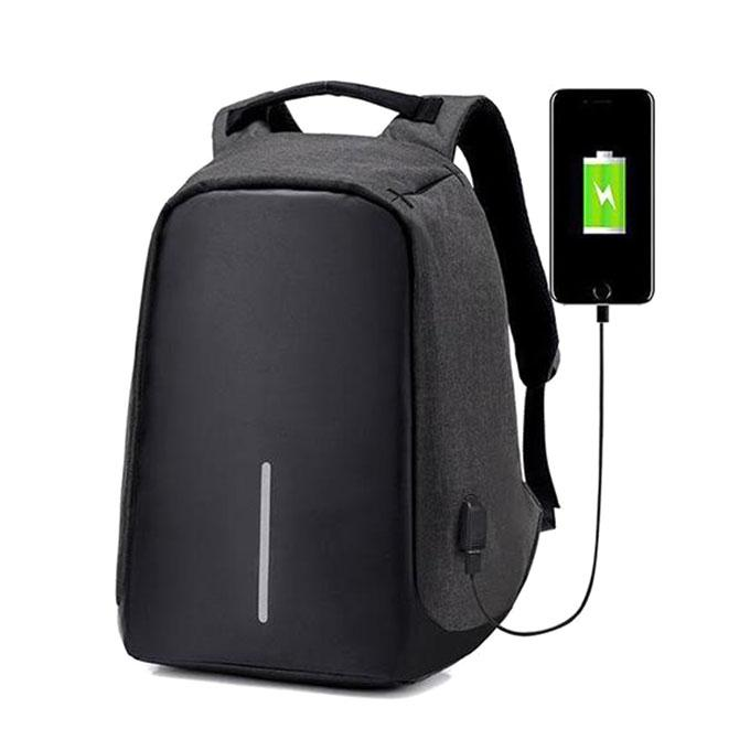 Anti-Theft Laptop Backpack - Black and Grey