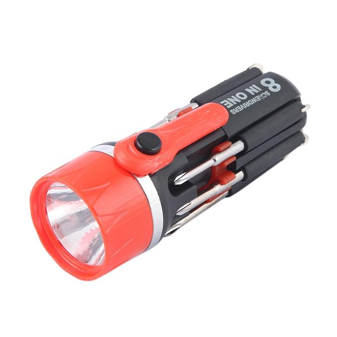 8 In 1 Screwdrivers With Torch Light
