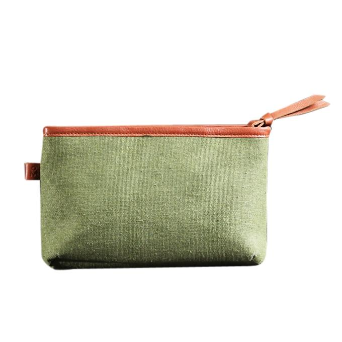 Pickle Green Fiona Makeup Pouch Bag For Women