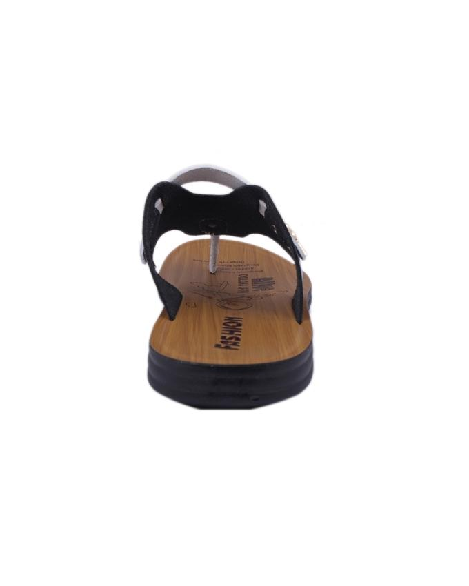 PU Sandal For Men - Brown and Navy Blue