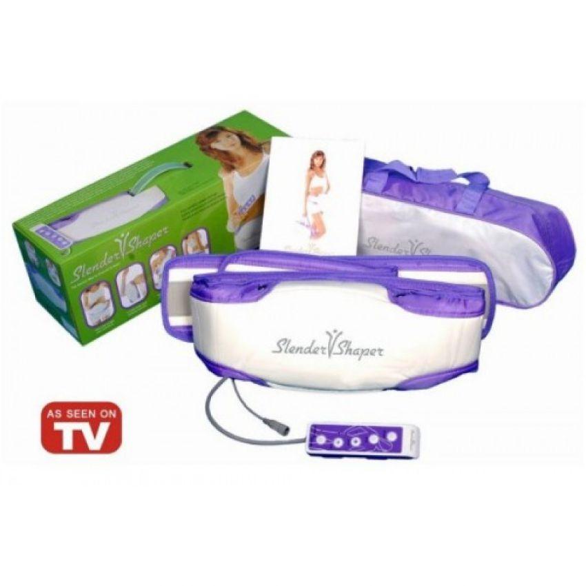 Slender V Shaper Slim Belt Massager - White and Purple